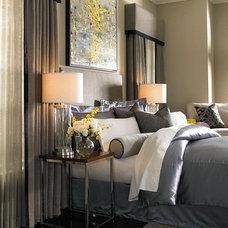 Contemporary Bedroom by www.fabricworkroom.com
