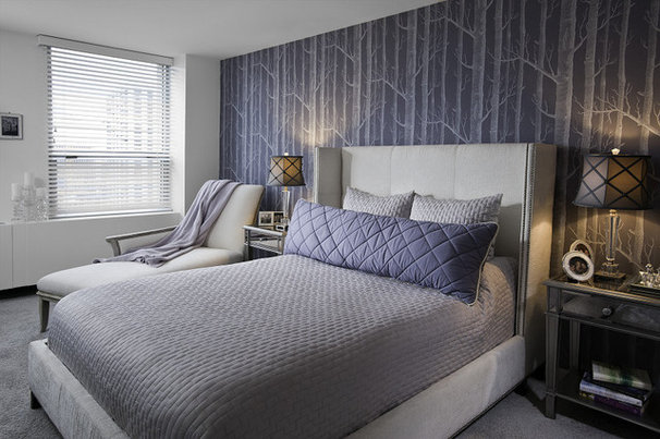 Contemporary Bedroom by Interiors by Mary Susan