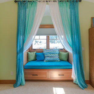 Photo of an arts and crafts guest bedroom in San Francisco.