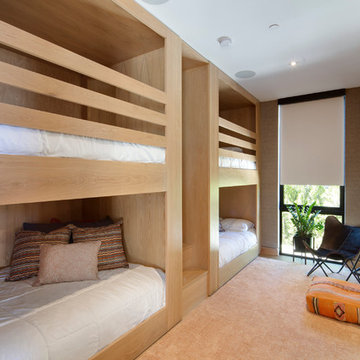 Contemporary Double Bunk Bed Guest Room