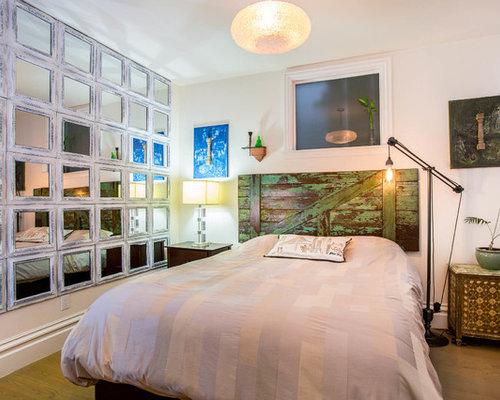 Mauve bedroom design ideas renovations photos with medium hardwood flooring - Mauve bedroom decorating ideas ...