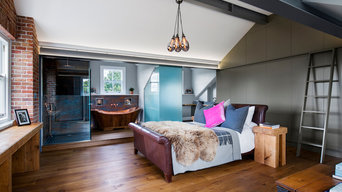 Contemporary Master Bedroom Suite in loft space