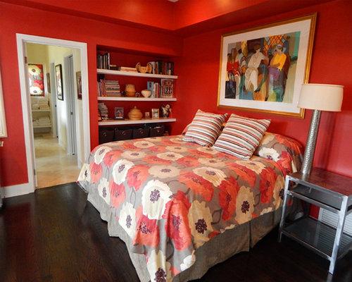 Stanze Da Letto Rosse : Colore pareti camera da letto bordeaux decorazioni idee