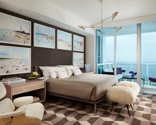 chambre bord de mer avec un mur marron photos et id233es