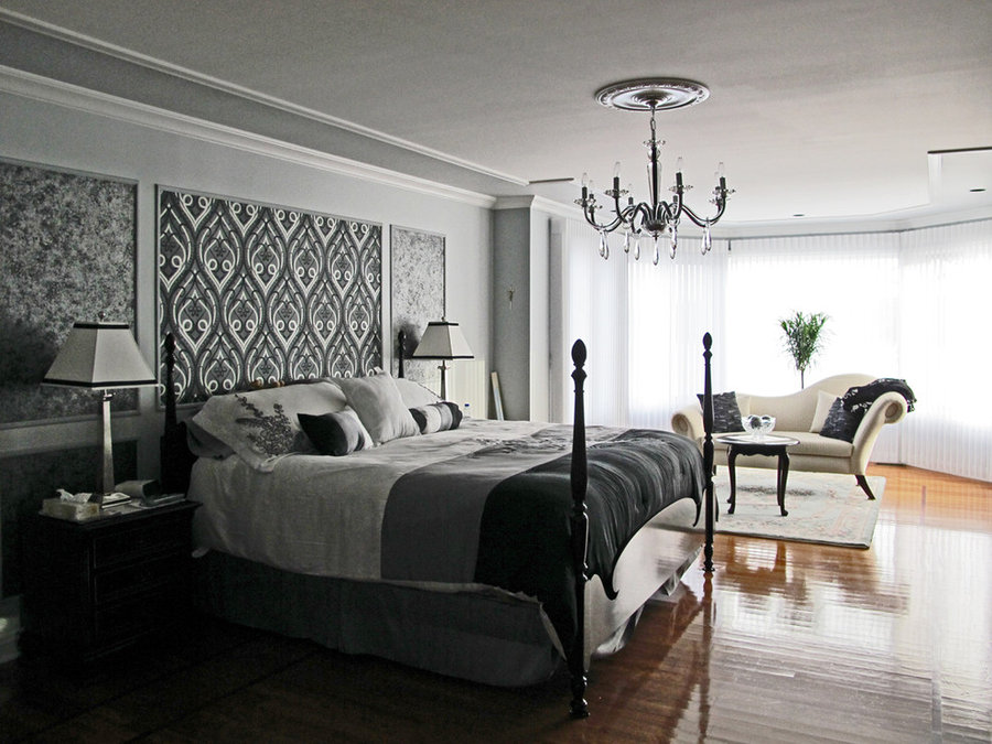 Cool Neutral Master Bedroom