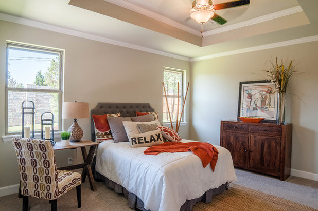 Transitional Bedroom by McCaleb Homes