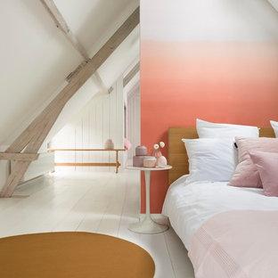 Coral burst bedroom