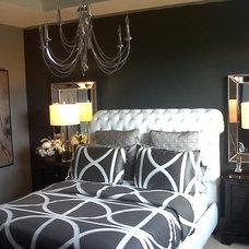 Contemporary Bedroom by MariVi Creations