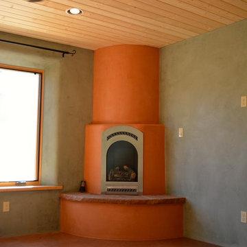 Corner Kiva Fireplace