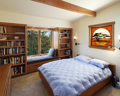 Built in bookcases around windows home design ideas - Houzz dormitorios ...