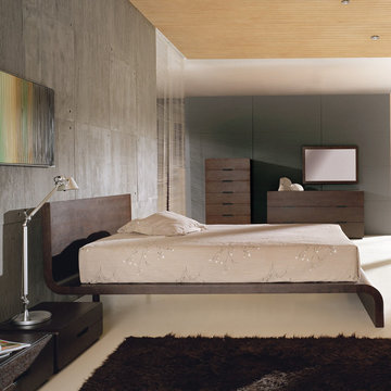Cosmo Curved Bedroom Set in Wenge - $3337.20