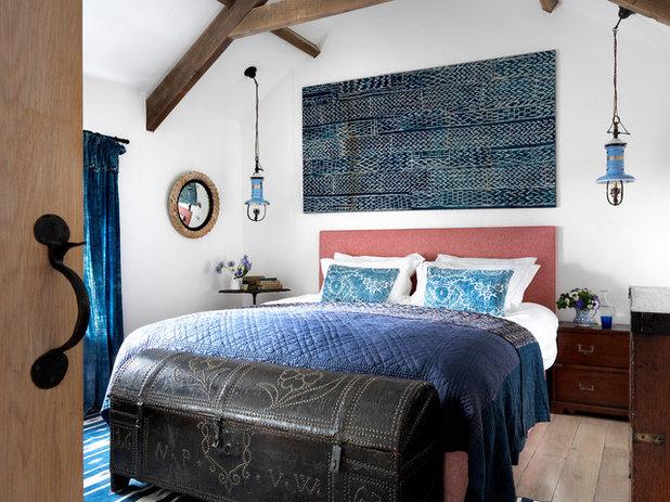 Mediterranean Bedroom by Marion Lichtig Ltd