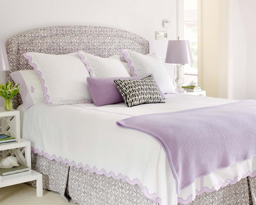 Purple and silver houzz for Bedroom ideas lilac