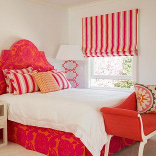 Pink Orange Bedroom | Houzz