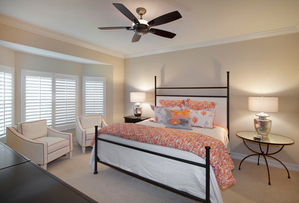 Transitional Bedroom by Wright Interior Group