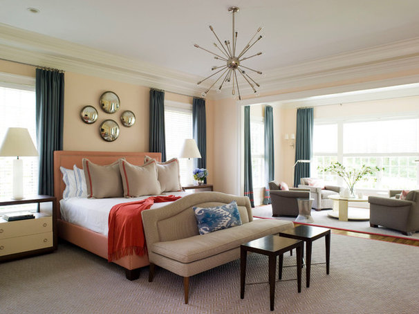 Contemporary Bedroom by S. B. Long Interiors
