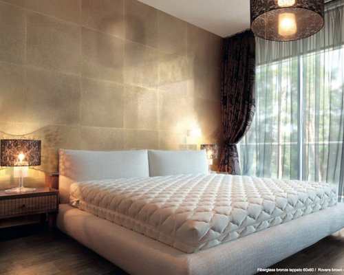 silver and gold bedroom gold leaf walls houzz 17059