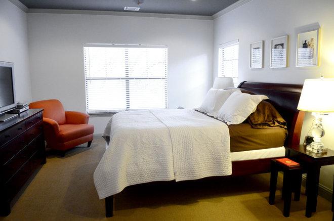 Contemporary Bedroom by Kara Mosher