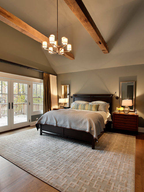 Craftsman chicago bedroom design ideas remodels photos Houzz master bedroom photos