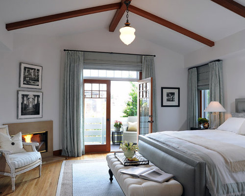 Interior Master Bedroom Double Doors master bedroom french doors houzz transitional medium tone wood floor idea in los angeles with white walls and