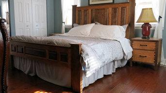 Craftsman Style Hardwood Bedroom Set