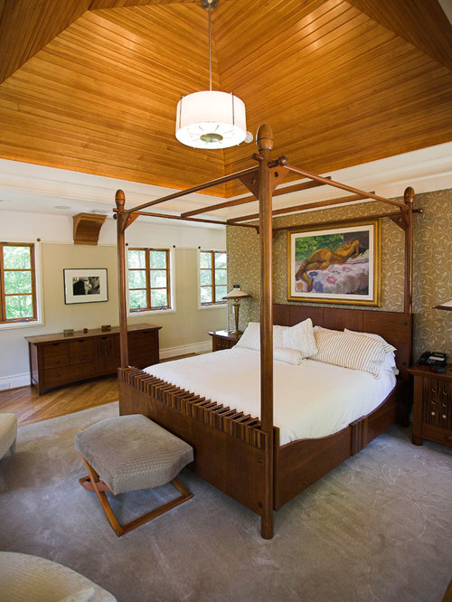Arts and crafts four poster bed home design ideas photos for Arts and crafts beds
