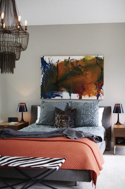 Eclectic Bedroom by Heather Garrett Design