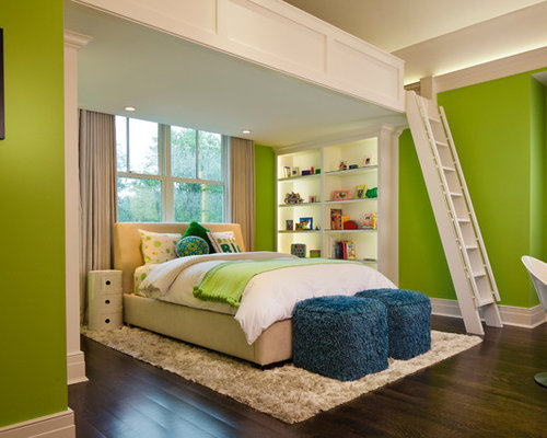 Green Bedroom | Houzz