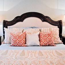 Transitional Bedroom by Liz Light Interiors