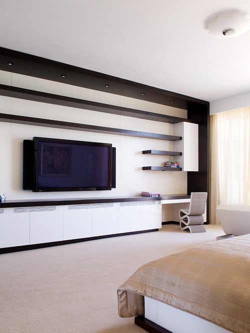 Best tv unit modern design ideas remodel pictures houzz Modern tv unit design ideas