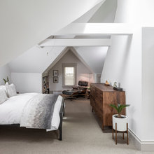 Room of the Day: A Minimalist Master Suite Tucked Beneath the Attic
