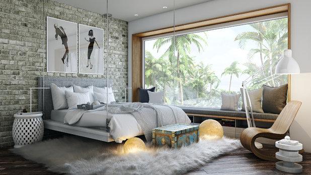 コンテンポラリー 寝室 by DiMare Design