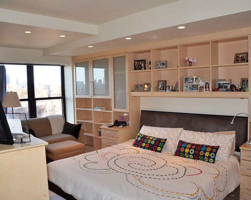 Bedroom Wall Unit: Custom Bed Surround