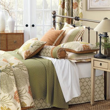 Transitional Bedroom by esc draperies