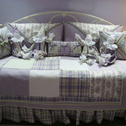 Custom Bedding - This is an example of what you can do with the designers at Wallauer's! This uses Eastern Accents products to make the perfect custom bedding set up for you.