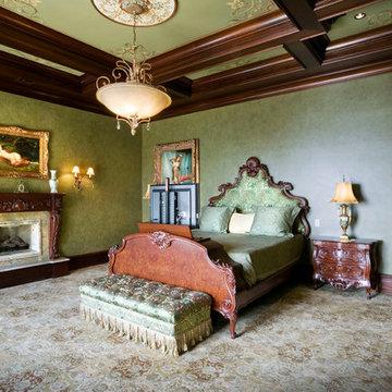 Custom Bedroom with Pop-Up TV