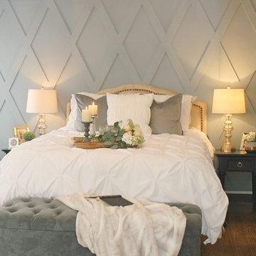 Custom Bedroom Woodwork Wall