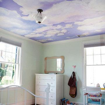 Custom Casart Ceiling Cloud Mural