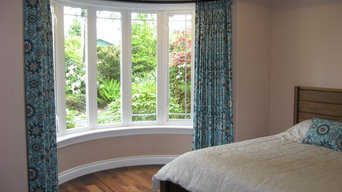 Custom Curved Window Treatment