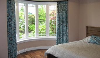 Custom Curved Window Treatment