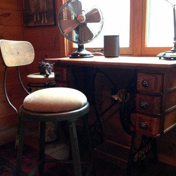 Custom Desk and Stool