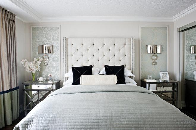 Contemporary Bedroom by Q. Design - Drapery & Design Resource Centre
