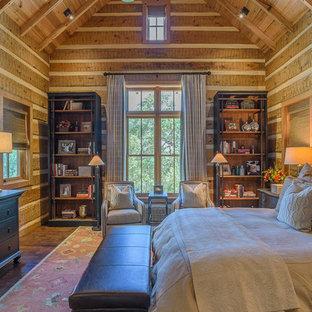 Mountain style dark wood floor bedroom photo in Austin