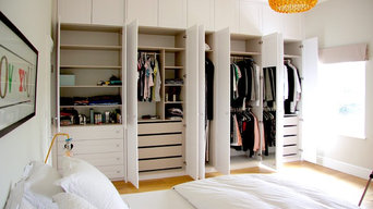 Custom made bedroom white hinged wardrobe