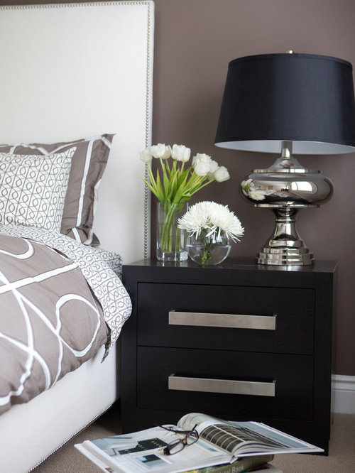 Nightstand accessories houzz - How to decorate a nightstand ...