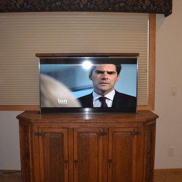 Custom Pop Up TV Cabinet
