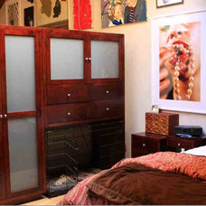 Eclectic Bedroom by Mortise & Tenon Custom Furniture Store