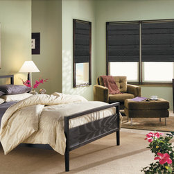 Custom Roman Shades / Blinds - Design your own custom roman shades / roman blinds & side panels for your home with your choice of over 2000 distinctive fabrics, modern styles, and multiple options.