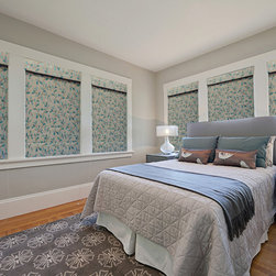Custom Roman Shades / Blinds - THERMAL ROMAN SHADES - www.ddccustomwindowfashions.com -Design your own custom roman shades / roman blinds & side panels for your home with your choice of over 2000 distinctive fabrics, modern styles, and multiple options.