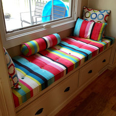 Transitional Bedroom by Cushion Source